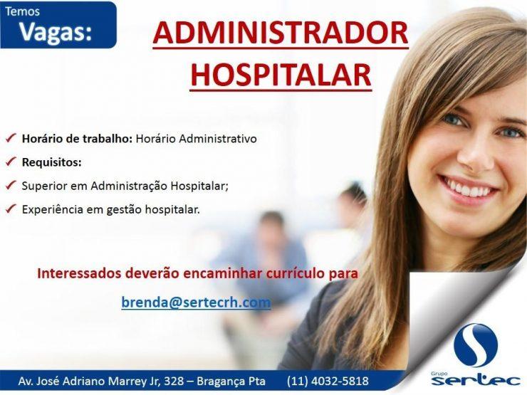 Vaga Administrador Hospitalar